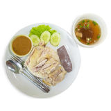 Hainanese chicken rice Royalty Free Stock Photo