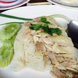 Hainanese chicken rice. Chicken rice originated in what city of China Royalty Free Stock Image