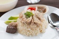 Hainanese chicken rice Stock Photos