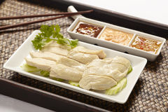 Hainanese Chicken rice. With sauce Stock Images