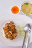 Hainanese chicken rice Royalty Free Stock Photography