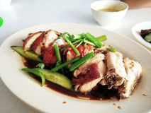 Hainanese chicken rice. Street Food. royalty free stock photography