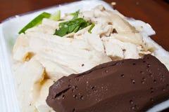 Hainanese Chicken Rice in Styrofoam Box Stock Images