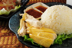 Hainanese chicken rice Royalty Free Stock Photo
