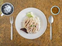 Hainanese chicken rice. Royalty Free Stock Photography