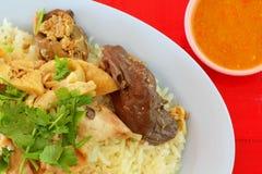 Hainanese feg rice royaltyfri fotografi