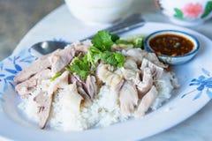 Hainanese-Hühnerreis morgens thailand Lizenzfreies Stockbild
