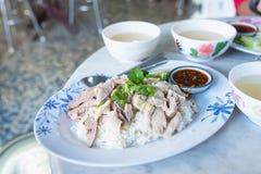 Hainanese-Hühnerreis morgens thailand Lizenzfreie Stockfotografie