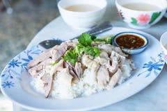 Hainanese-Hühnerreis morgens thailand Lizenzfreie Stockfotos