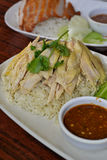 Hainanese steam Chicken Royalty Free Stock Photography