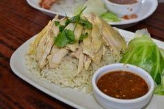Hainanese steam Chicken Royalty Free Stock Photos
