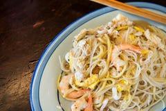 Hainanese stir-fry noodles Royalty Free Stock Image