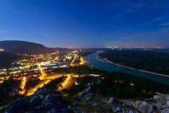 Hainburg,南奥地利 免版税库存图片