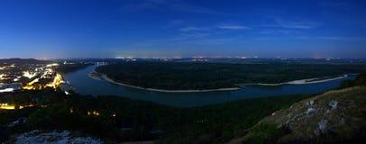 Hainburg, Austria più meridionale Fotografia Stock