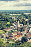 Hainburg an der Donau, forests and Danube river from Schlossberg Stock Photos