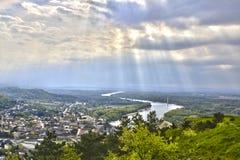 Hainburg en der Donau Fotografering för Bildbyråer
