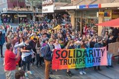 Haine d'atouts de solidarité photo stock