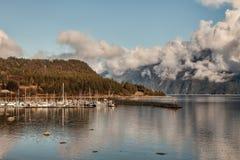 Гавань шлюпки в Haines, Аляске стоковое изображение rf