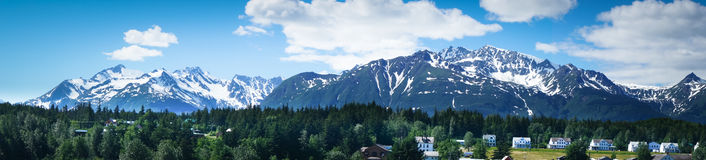 Haines city near Glacier Bay, Alaska, USA Royalty Free Stock Photo