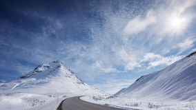 Haines Hwy in Winter Stock Photo