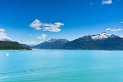 Haines miasto blisko lodowiec zatoki, Alaska, usa obrazy stock