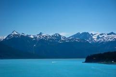 Haines miasto blisko lodowiec zatoki, Alaska, usa Zdjęcia Royalty Free