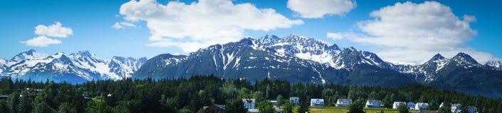 Haines miasto blisko lodowiec zatoki, Alaska, usa Zdjęcia Stock
