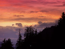 Haines sunset Royalty Free Stock Images