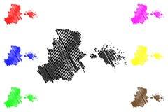 Haiphong Province map vector vector illustration