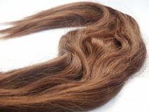 Hair. Brown long hair Royalty Free Stock Photo