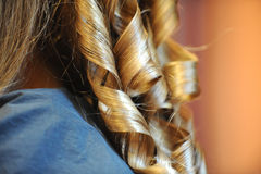 Hair. Beautiful hair and gold hair Royalty Free Stock Photo