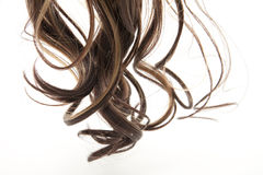 Hair. Wig with curls and strands Stock Photo