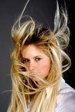 Hair. Flutter on a wind Stock Photo