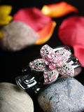 Hair Accessories. A floral-shaped Hair Accessories with crystal embedded Royalty Free Stock Photos