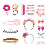 Hair Accessories Objects Set Stock Photo