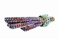 Hair accessory hairpin with crystal Royalty Free Stock Photo