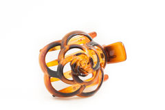 Hair accessory: Tortoiseshell Barretta Royalty Free Stock Photos