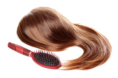 Hair And Hairbrush With Dandruff | Isolated Stock Images
