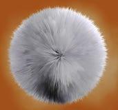 Hair ball. 3d image of abstract hair ball vector illustration