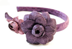 Hair band with flowers Royalty Free Stock Images