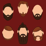 Hair and beards fashion style vector illustration
