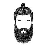 Hair and beards Royalty Free Stock Image