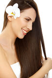Hair. Beautifull Woman with Long Healthy Hair Royalty Free Stock Photos