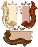 Hair beauty vector Royalty Free Stock Photography