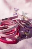 Hair beauty pins. And elastic Royalty Free Stock Photos