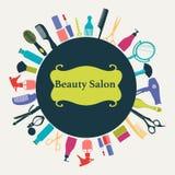 Hair Beauty salon background-illustration Royalty Free Stock Photography
