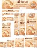 Hair beauty salon web banners set Stock Images