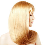 Hair. Beauty young woman with luxurious long blond hair. Girl wi Royalty Free Stock Photography