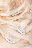 Hair blond extensions set Royalty Free Stock Images