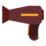 Hair blowdryer icon Royalty Free Stock Images